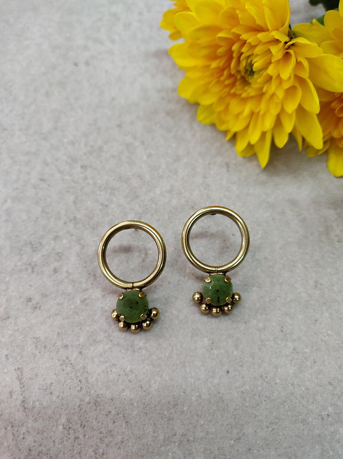 Mini Olive Calypso Earrings