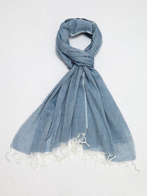 Blue Cotton Shawl