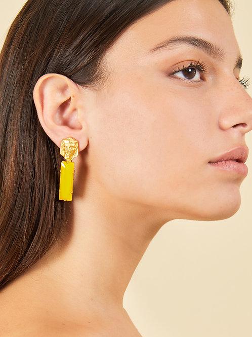 Pharaoh Jade Earrings