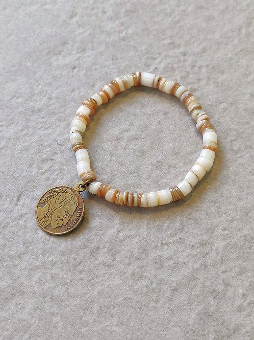 Native American Coin Shell Bracelet