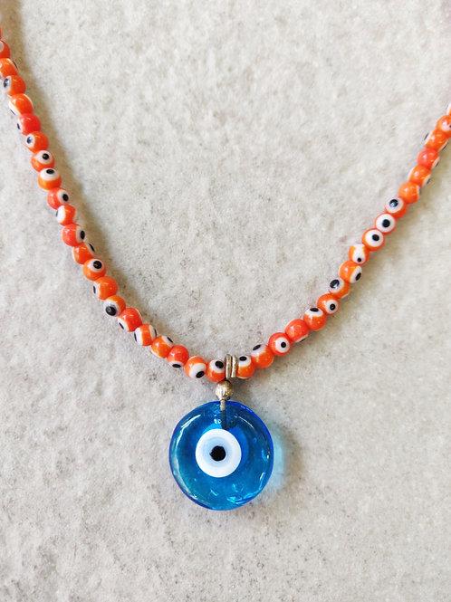 Orange Eye Necklace