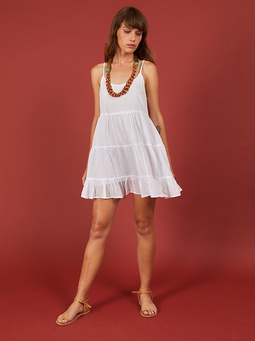 White Vidhi Mini Dress