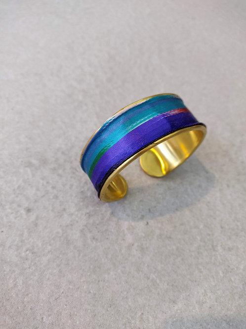 Uzbek Silk Brass Cuff