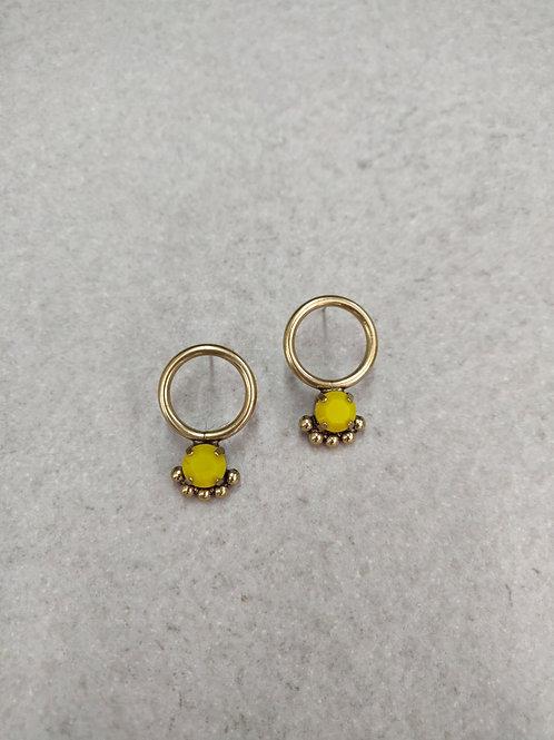 Mini Yellow Calypso Earrings