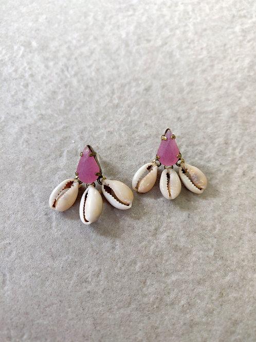 Mini Drop Shell Cluster Earrings