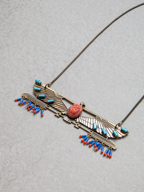 Brass Egyptian Eagle Necklace