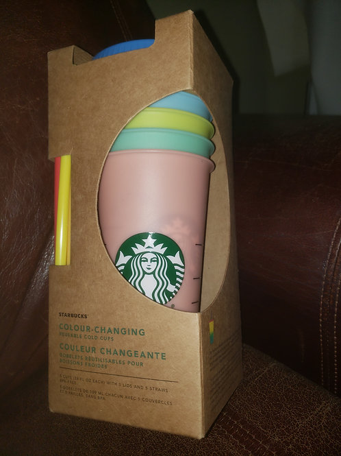 Starbucks Color Changing Cold Cup Set