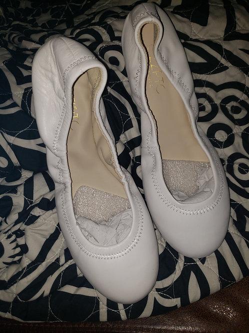White Ballet Flats - 9M