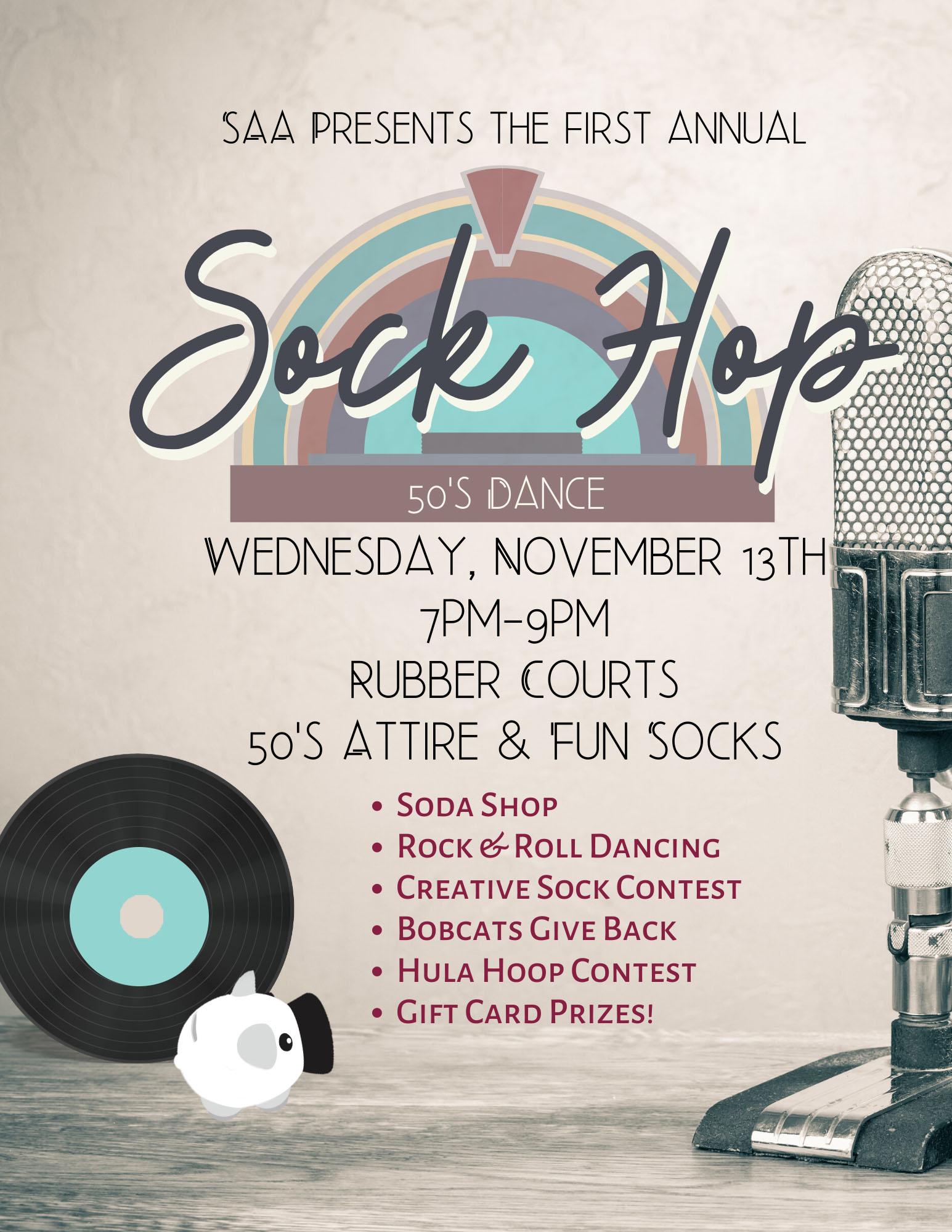 Sock Hop Poster