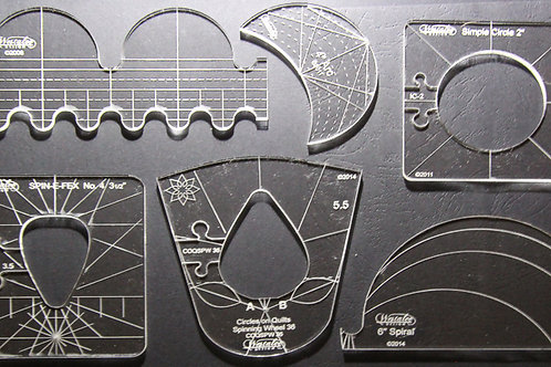 6 Piece Template Sampler Set for Domestic Machines - high shank