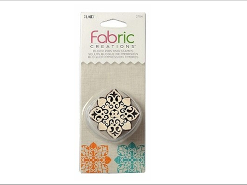 Block Stamp Baroque Floral 1