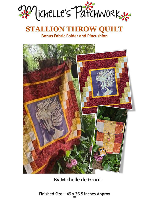 Golden Steed Quilt Pattern Kit