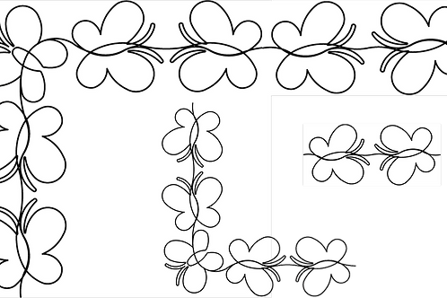 #60001 Baby Girls Butterfly Border by Anne Bright Stencil