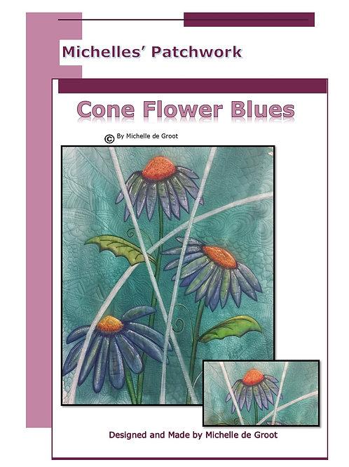 CFB101-Cone Flower Blues Pattern