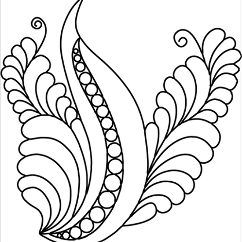 "#30802 Elegant Bird 7 x 7 1/2"" Stencil"