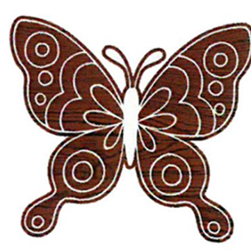 Block Stamp Butterfly