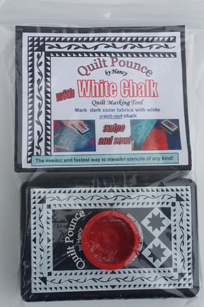Pounce Pad with Chalk Refill - White
