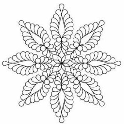 #30583 Feather Star, 8 Point Stencil