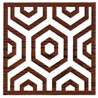 Block Stamp Hex Honeycomb