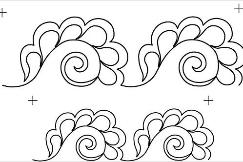 #30612 Feather Swirled Border Stencil