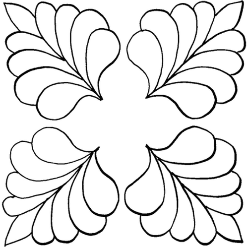 #30328 Four Corner Feather Stencil