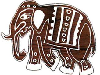 Block Stamp Parade Elephant