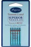 Superior Titanium Coated Topstitch Needles 70, 80, 90, 100
