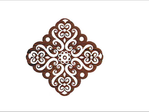 Block Stamp Baroque Medal