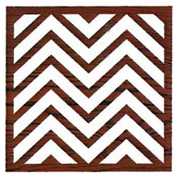 Block Stamp Chevron