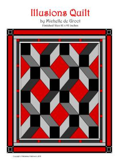 IQ101-Illusions Quilt Pattern