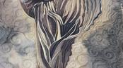 Tiny Dancer Silk Painting