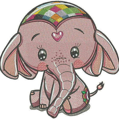 Emily the Elephant Embroidery File