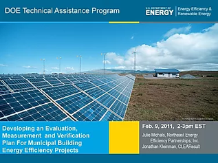 Developing an Evaluation, Measurement, and Verification Plan: Municipal Building Energy Efficiency