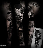 skull, war, trash polka