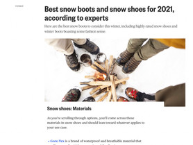 Featured On NBC News {Best snow boots and snow shoes for 2021}