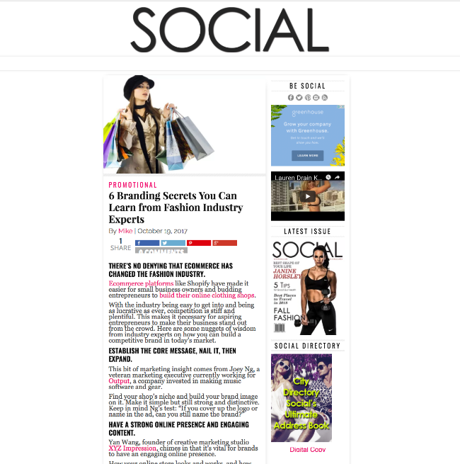 Social Lifestyle MaG