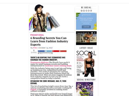 Seen On : Social Lifestyle Mag - Branding Secrets