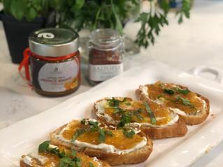 {Recipe} Orange Marmalade Crostini