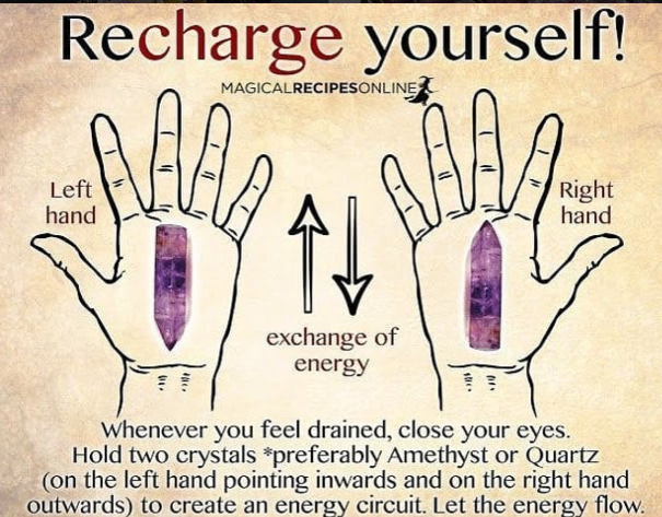 Recharge Yourself with Crystals