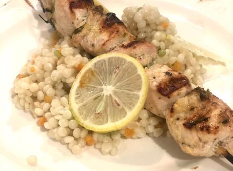{Recipe} Lemon Parsley Chicken Skewers