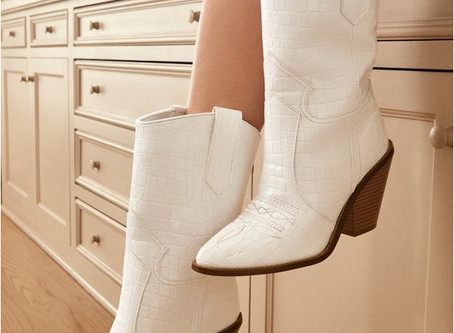 White Cowboy Booties { The Style List}