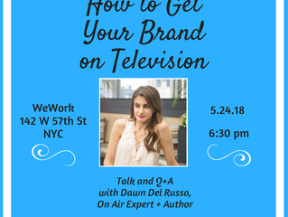 Speaking Engagement { How to Get Your Brand on TV }