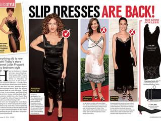 Closer Magazine Slip Dresses Are Back