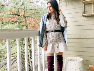 How I Styled OTK Boots with a Summer Dress