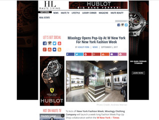 Featured On : Haute Living Mixology Pop Up at W