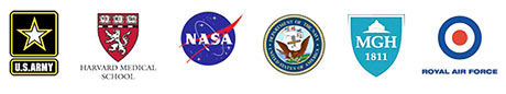US Army, Harvard Medical School, NASA, MGH, Royal Air Force