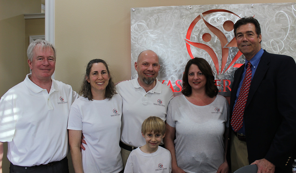 Texas Laser Therapy Team - James, Nicole, Marty, Brendan, Jodi & Wally Taylor, MD