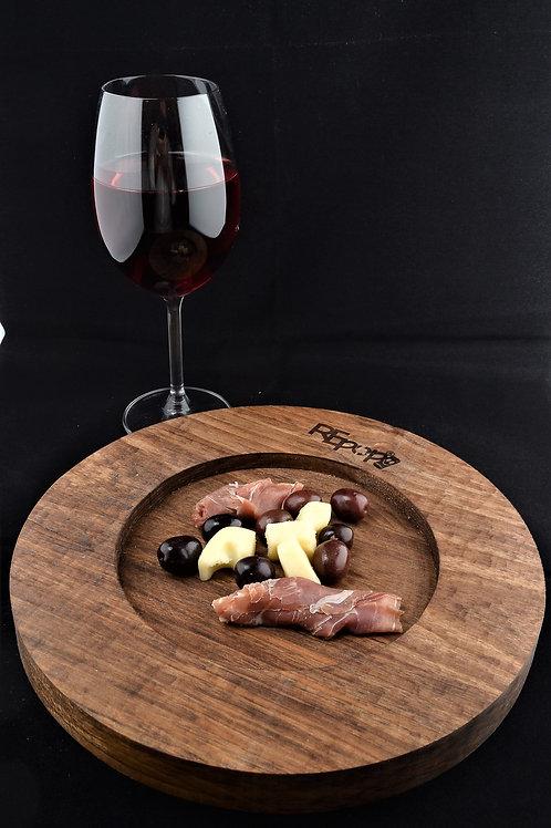 Vassoio/Sottopiatto Cerchio Noce, Appetizer board/Charger plate  Circle Walnut