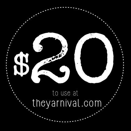 $20 Gift Code