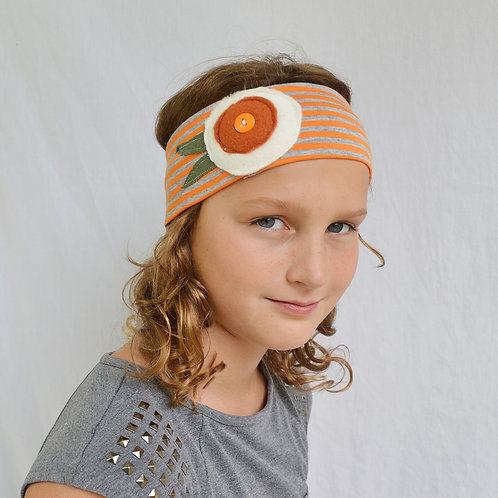 Orange Stripe Headband